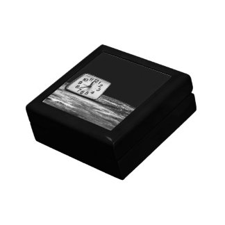 Black clock jewelry box