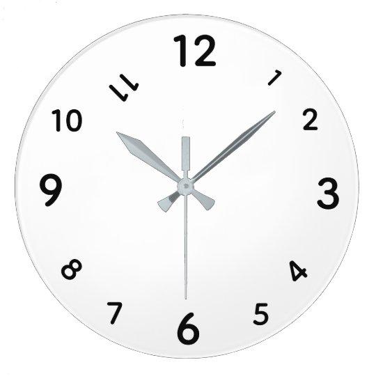 black clock numbers template wall clock zazzle com