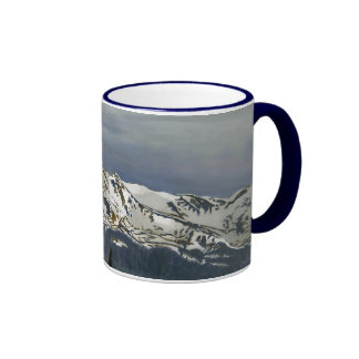 Black Cloud Mine Oil Landscape Painting Ringer Coffee Mug