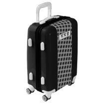 Black Clover Ribbon by Kenneth Yoncich Luggage