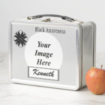 Black Clover Ribbon by Kenneth Yoncich Metal Lunch Box