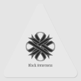 Black Clover Ribbon by Kenneth Yoncich Triangle Sticker