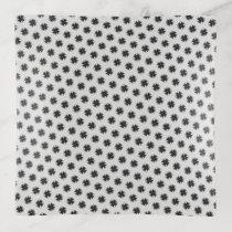 Black Clover Ribbon by Kenneth Yoncich Trinket Trays