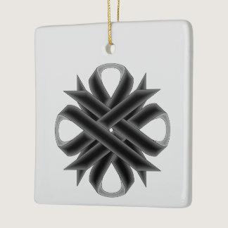 Black Clover Ribbon Ceramic Ornament