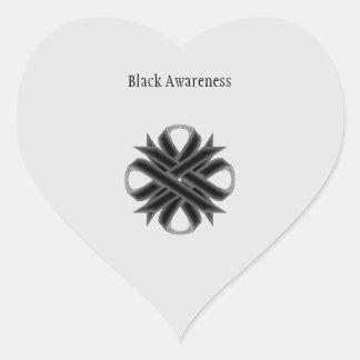 Black Clover Ribbon Heart Sticker