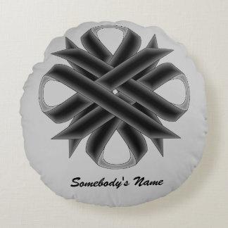 Black Clover Ribbon Round Pillow