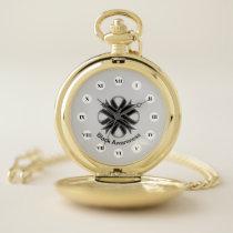 Black Clover Ribbon (Rf) by K Yoncich Pocket Watch