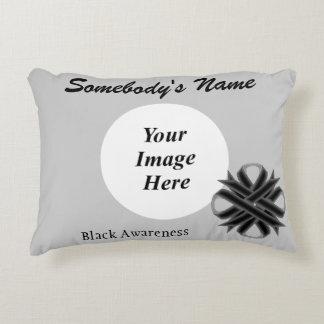 Black Clover Ribbon Template Accent Pillow