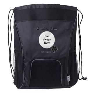 Black Clover Ribbon Template Drawstring Backpack