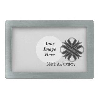 Black Clover Ribbon Template Rectangular Belt Buckle