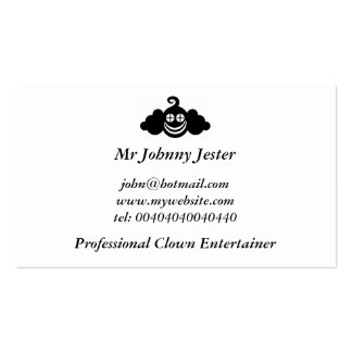 Black Clown, Mr Johnny Jester Double-Sided Standard Business Cards (Pack Of 100)