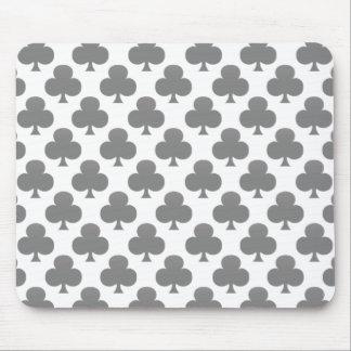 Black Club Pattern Mouse Pad