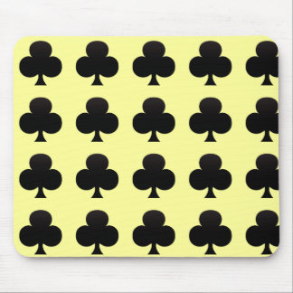 Black Club - Suit of Gambling Cards Mouse Pad