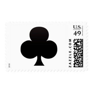 Black Club - Suit of Gambling Cards Postage Stamp