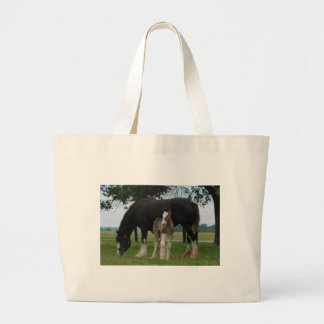 Black Clydesdale and Filly Tote Bag