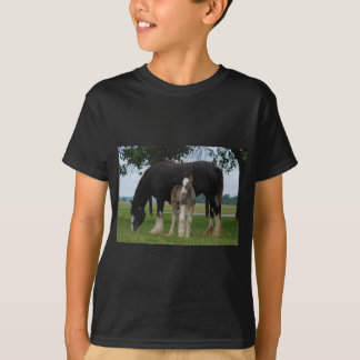 Black Clydesdale and Filly T-Shirt
