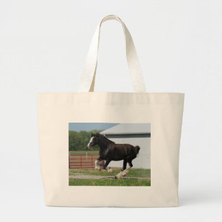 Black Clydesdale Tote Bags