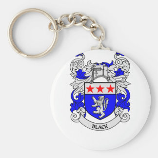 BLACK Coat of Arms Keychain