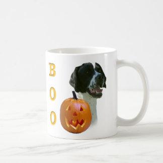 Black Coated Pointer Boo Mugs