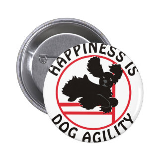 Black Cocker Agility Happiness Pinback Button