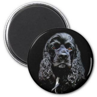 Black Cocker Spaniel 2 Inch Round Magnet
