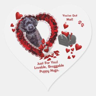 Black Cocker Spaniel #2 - You've Got Mail Design Heart Sticker