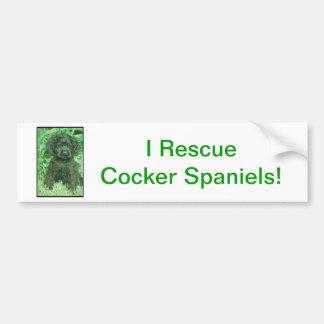 Black Cocker Spaniel Bumper Sticker