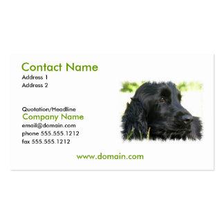Black Cocker Spaniel Dog Business Card