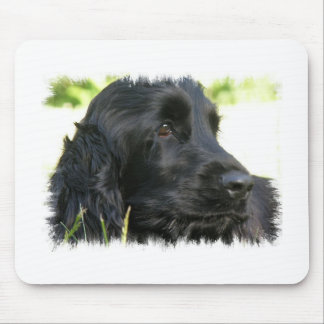 Black Cocker Spaniel Dog Mouse Pad