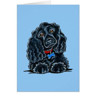 Black Cocker Spaniel Fitz Card