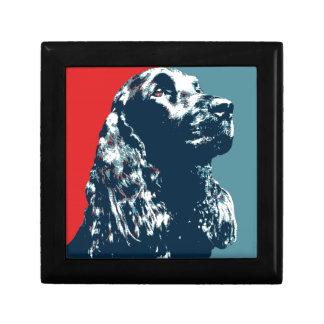 Black Cocker Spaniel Hope Dog Pop Art Keepsake Box