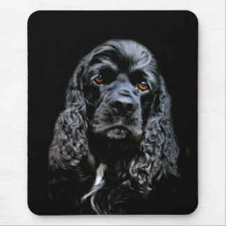 Black Cocker Spaniel Mouse Pad