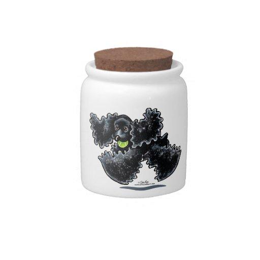 Black Cocker Spaniel Play Candy Dish