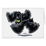 Black Cocker Spaniel Play Greeting Card