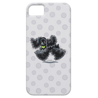 Black Cocker Spaniel Play iPhone SE/5/5s Case