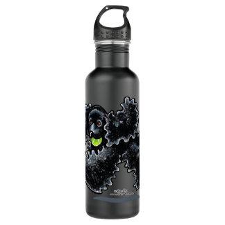 Black Cocker Spaniel Play Stainless Steel Water Bottle