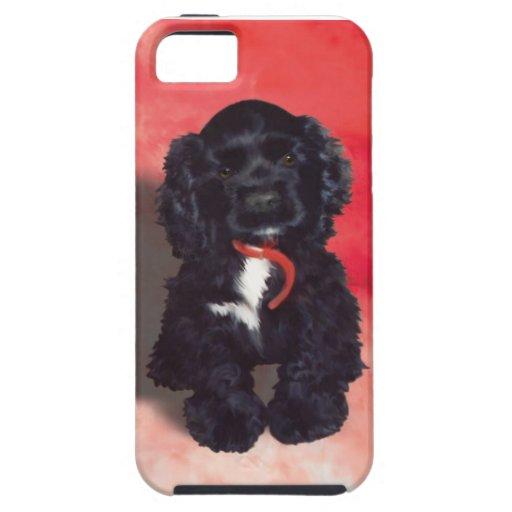 Black Cocker Spaniel Puppy - Abby iPhone 5 Cases
