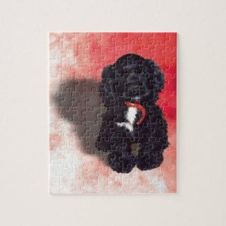 Black Cocker Spaniel Puppy - Abby Jigsaw Puzzle