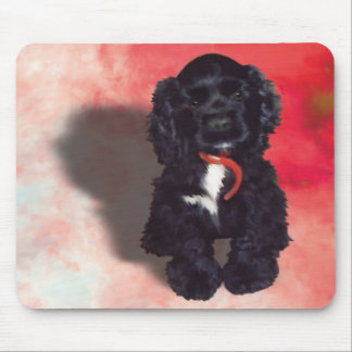 Black Cocker Spaniel Puppy - Abby Mouse Pad