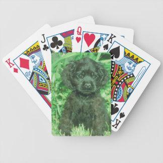 Black Cocker Spaniel Puppy Dog Playing Cards