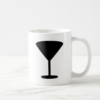 black cocktail icon coffee mug