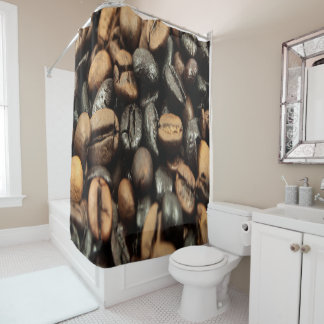 Dark Brown Shower Curtains | Zazzle