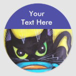 Black Coffee Cat Stickers
