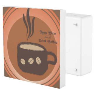 Black Coffee Creative Art Design Outlet Cover