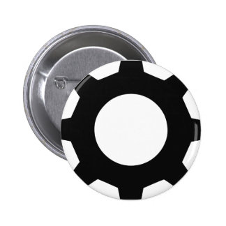 black cogwheel cog button