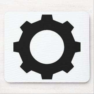 black cogwheel cog mouse pad