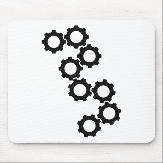 black cogwheels icon mousepads