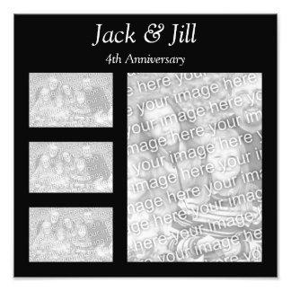 Black Collage Photo Photographic Print