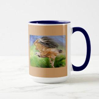 Black-collared Hawk Pastel Fine Art Mug