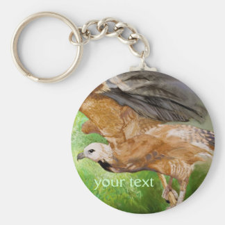 Black-collared Hawk Pastel Painting Keychain